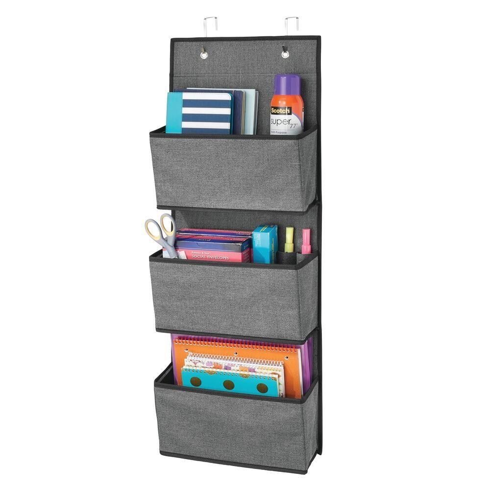 3 Pocket Over Door Fabric Hanging Desk Organizer Desk