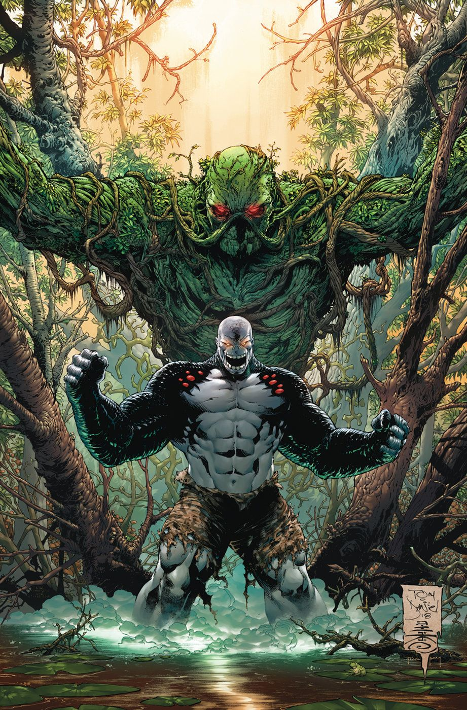 DAMAGE #6 (Damage vs Swamp-Thing) Cover by Tony S. Daniel #swampthing