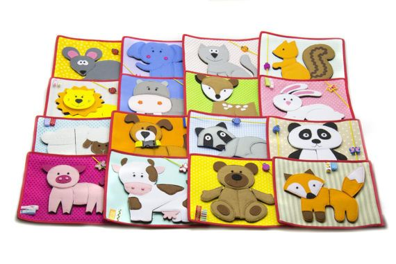 Quiet Felt Toy Soft Puzzle Animals For Baby Of One Year