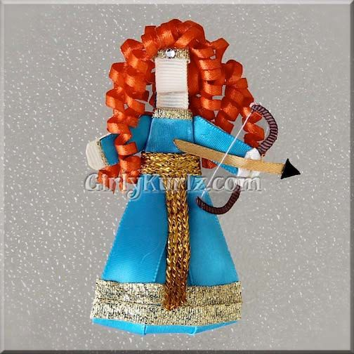 Merida Bow Merida and Arrow Merida Bows Disney Princess Acceessories Turquoise Bows Teal Gold Bow Disney Hair Bow Brave Bow Hair Clip