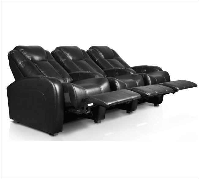 Theater Seat In Black Or Brown Leather
