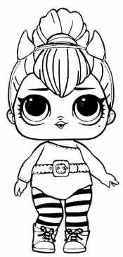 Кукла Лол - кошка | Детские раскраски, Раскраски