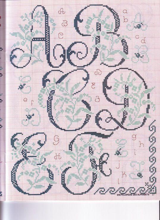26 Encyclopedie Des Alphabets Orlanda Cross Stitch Fonts Cross Stitch Alphabet Patterns Cross Stitch