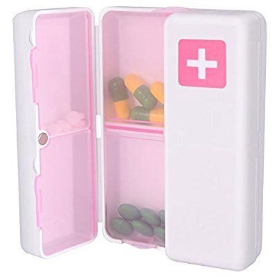 2b59b192195c MYNER Magnetic Foldable Pill Box Case, 7 Compartments Portable Pill ...