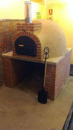 Montaje de hornos de le a baratos horno de barro montado con acabado tradicional horno le a - Hornos a lena para pizza ...