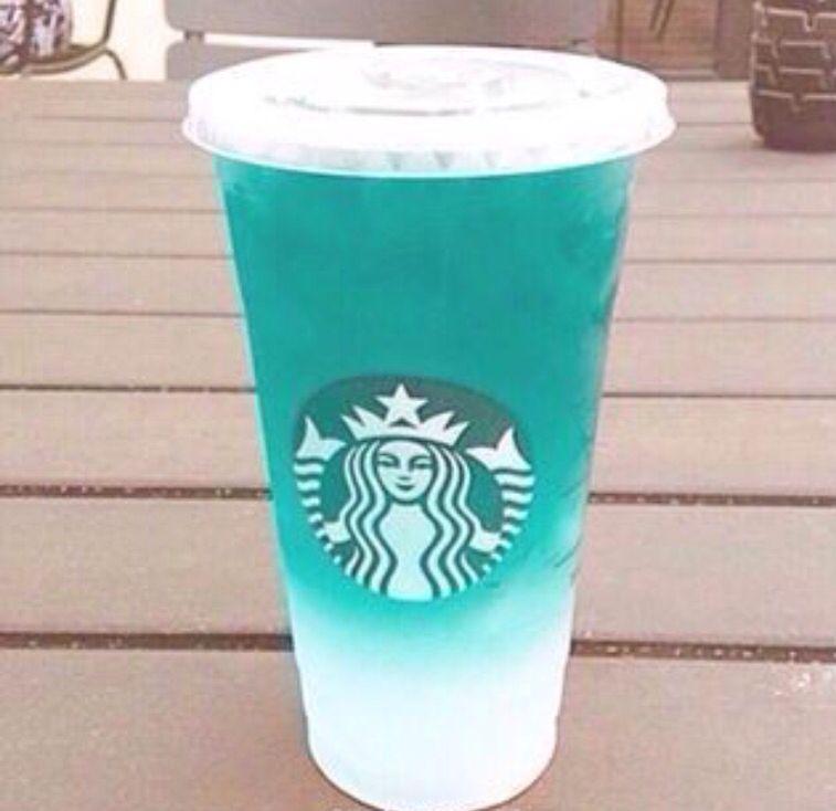 Blue Starbucks Starbies Pinterest Starbucks And