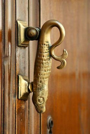 Spanish fish door handel | House stuff | Pinterest | Spanish, Doors ...