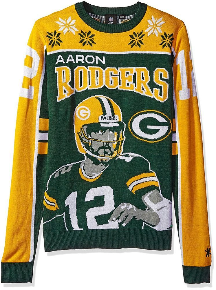 outlet store c419d baa26 Ugly Christmas Sweater, Aaron Rogers, Green Bay Packers, New ...