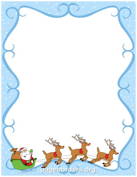headshot border template - printable reindeer border use the border in microsoft