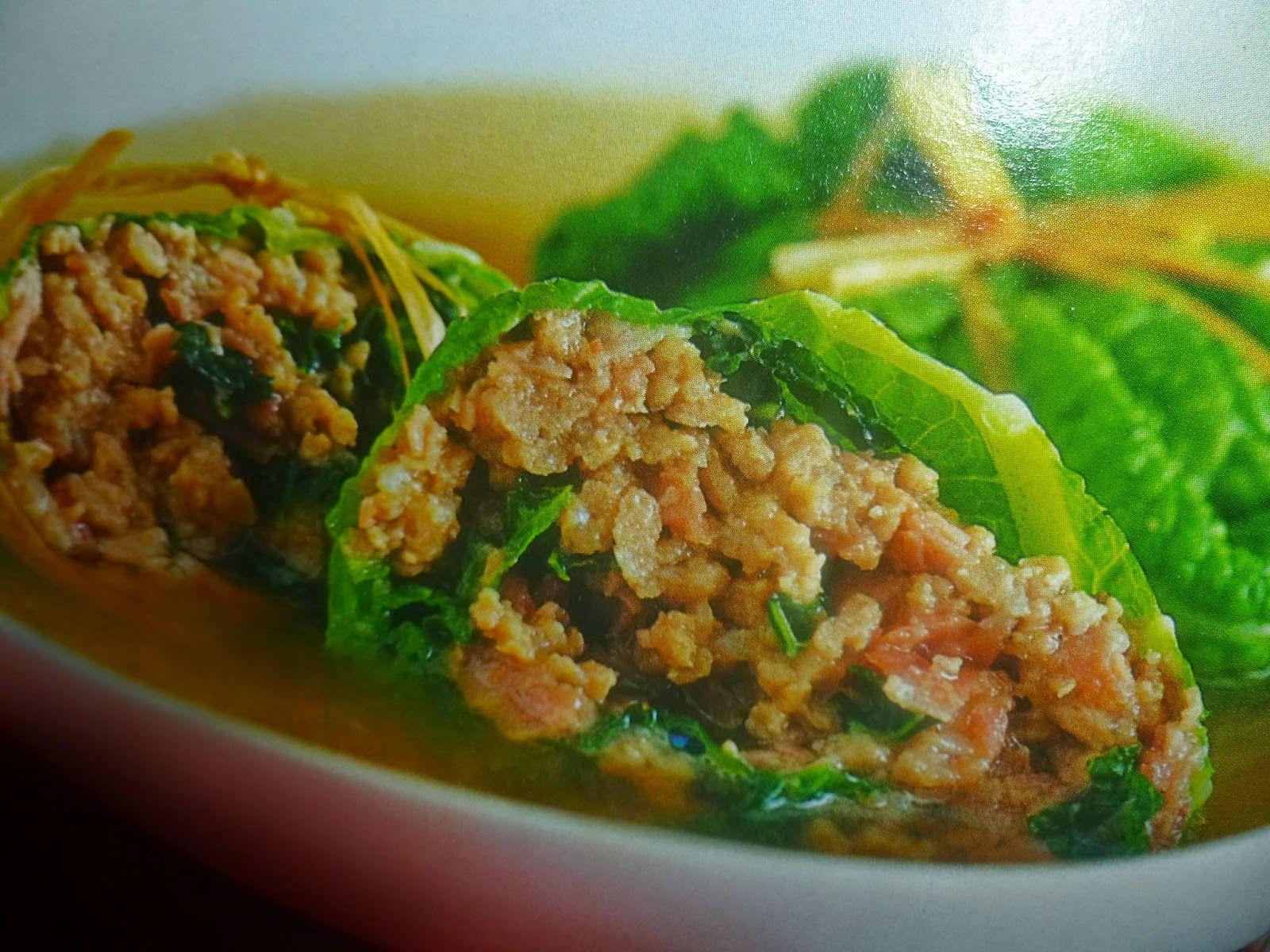 un mondo di ricette: fagottini di verza in brodo