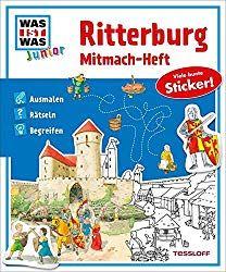 Ritterburg Mitmach-Heft Ausmalen Ritter Ritterburg