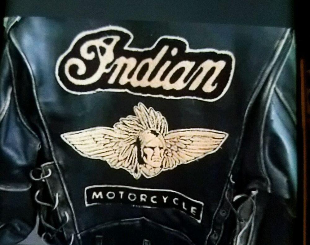 Premium vintage 1967 big amp tall men s big amp tall premium tank - Rare Vintage Iron Horse Clothing Company Indian Motorcycle Jacket Ebay Motors Parts