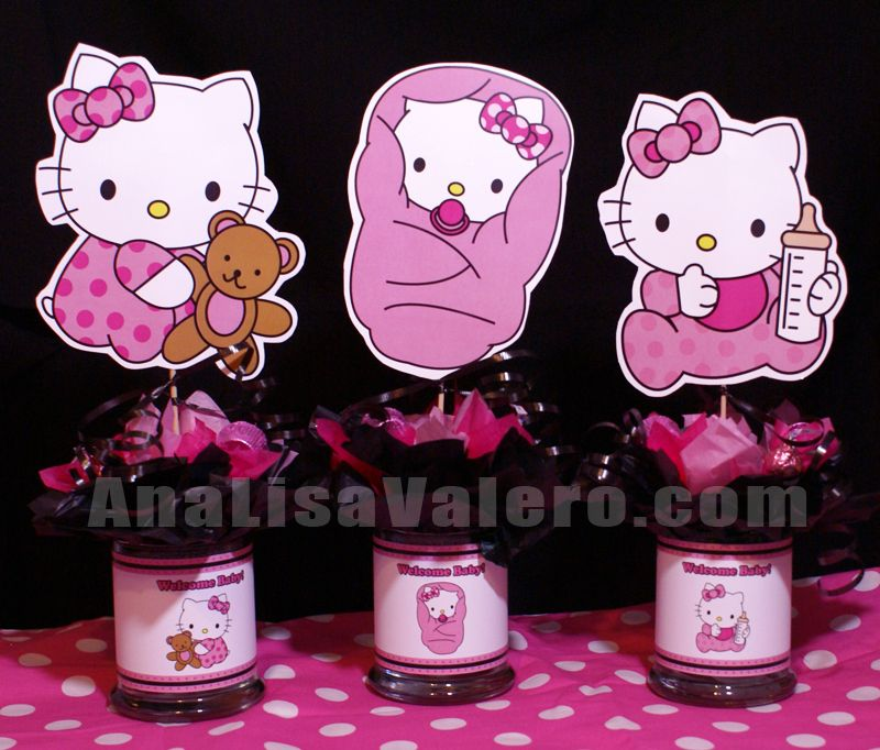 hello kitty baby homemade hello kitty baby shower table decorations