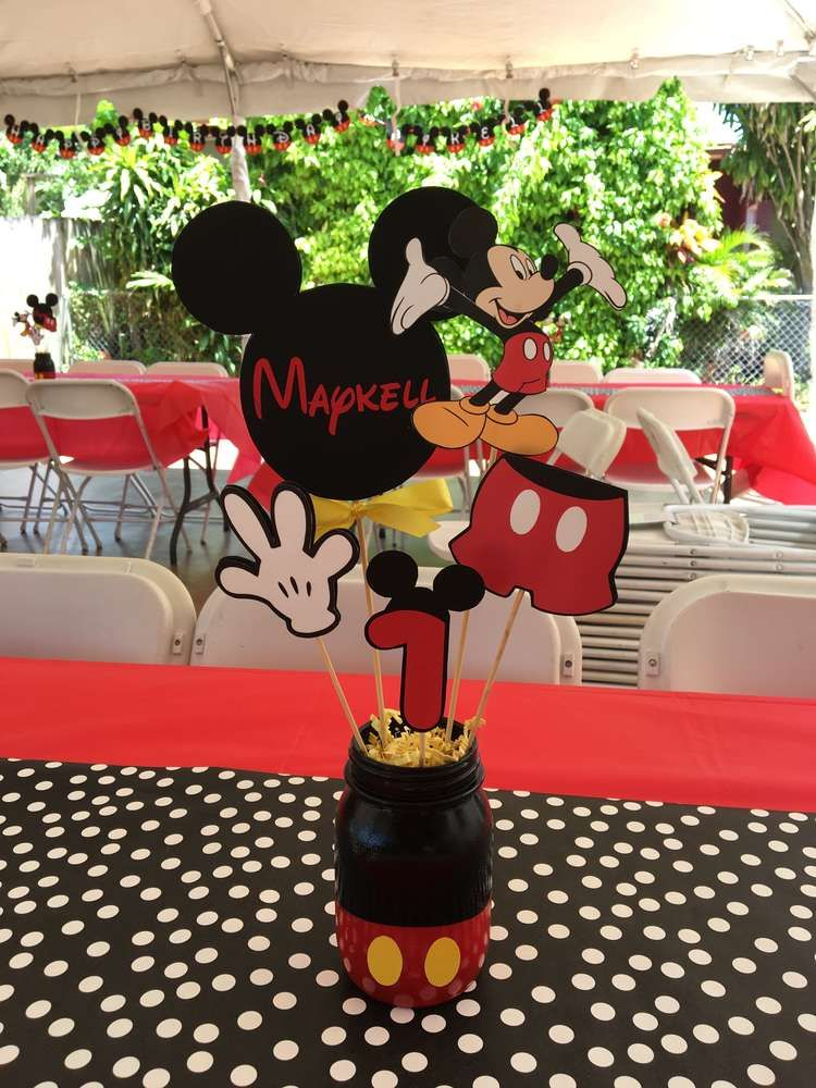 Mickey Mouse Birthday Party Ideas Photo 8 Of 14 Mickey Mouse Birthday Decorations Fiesta Mickey Mouse Mickey Mouse Parties