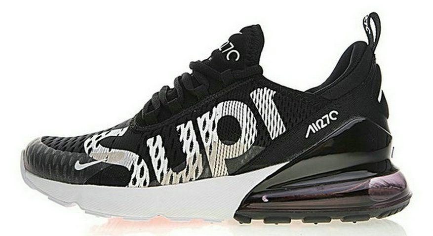 Discount Nike Air Max 270 X Supreme Black White Ah8050 001 Sneaker ... f05a3c1573a