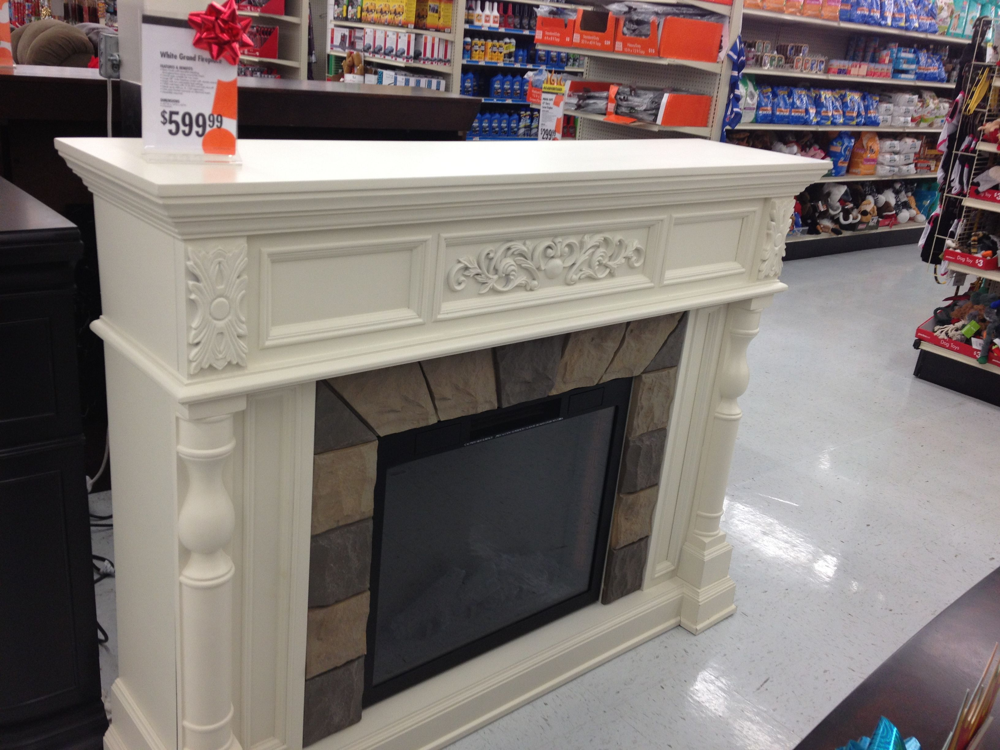 Pretty fireplace from Big lots. Home decor, Home, Furniture