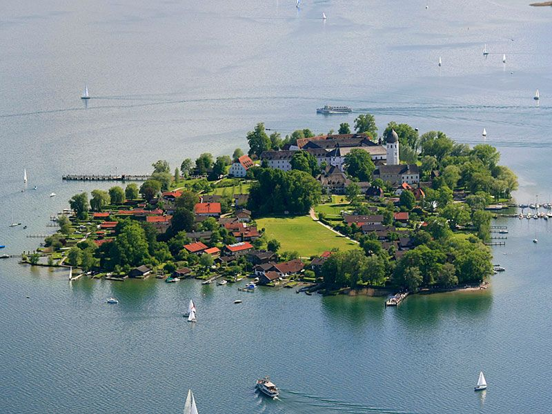 Women S Island Fraueninsel Chiemsee Lake Bavaria Germany Beautiful Sites Bavaria Germany
