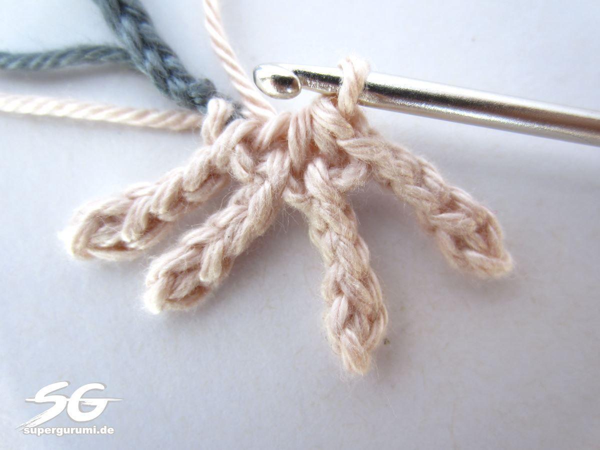 Rattenbein Fuß häkeln | crochet | Pinterest | Häkeln, Lesezeichen ...