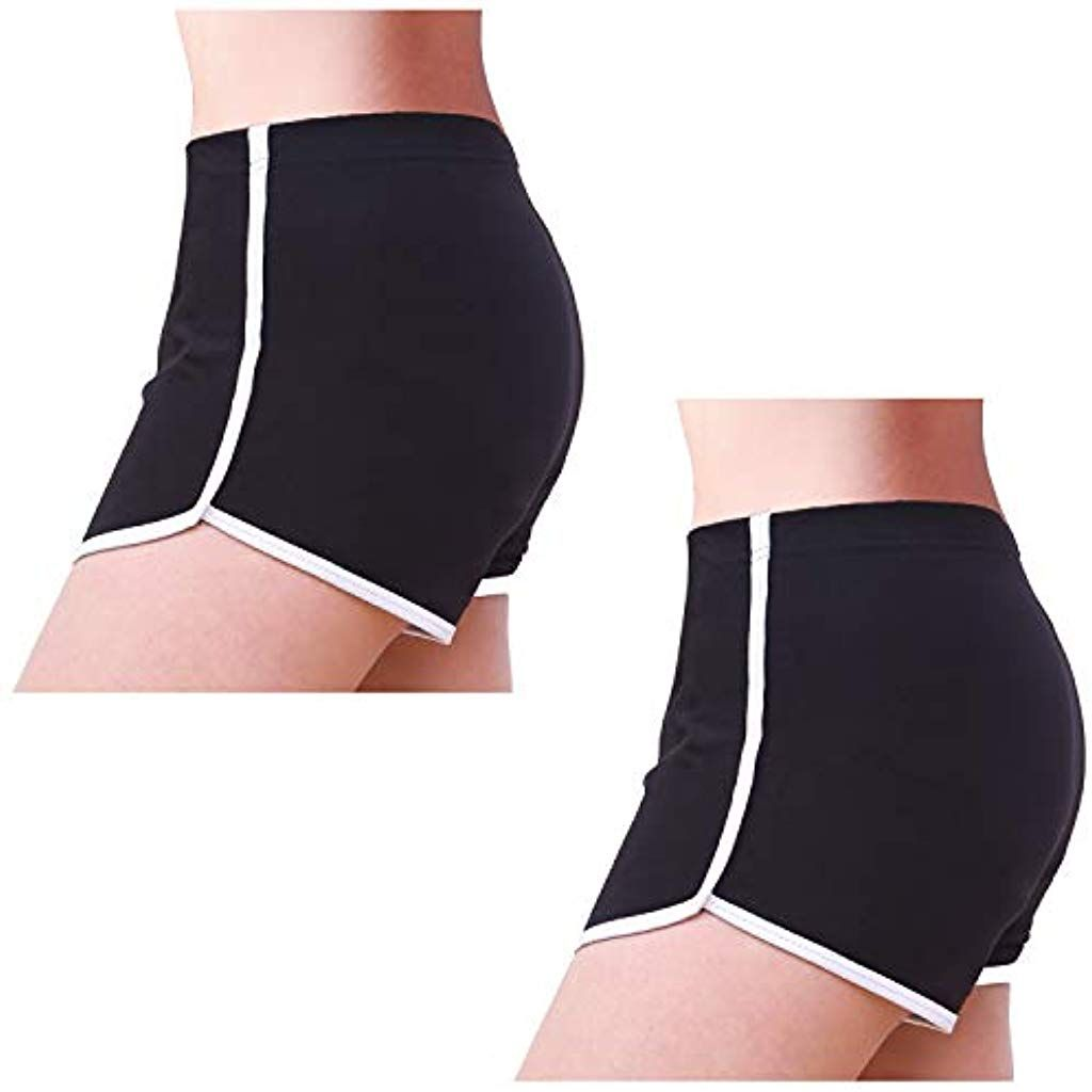 INTERESTPRINT Women Running Workout Shorts Yoga Sport Fitness Short Pant