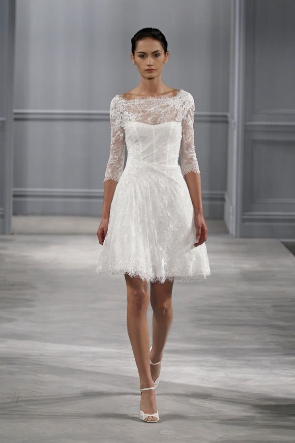 Monique Lhuillier Short Wedding Dress I C Gables Bridal Boutique Chic Parisien Cpbride