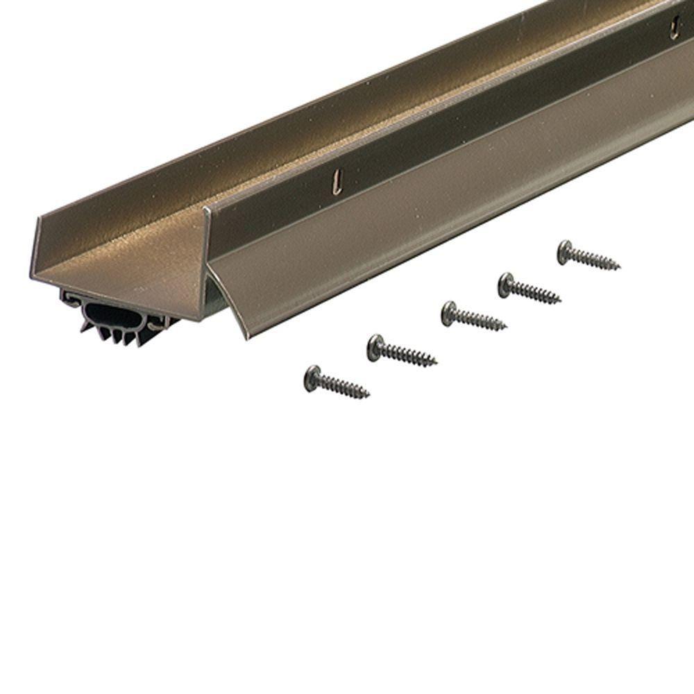 M D Building Products 1 75 In X 36 In Bronze U Shaped Door Bottom With Drip Cap Vinyl Doors Door Weather Stripping Door Sweep