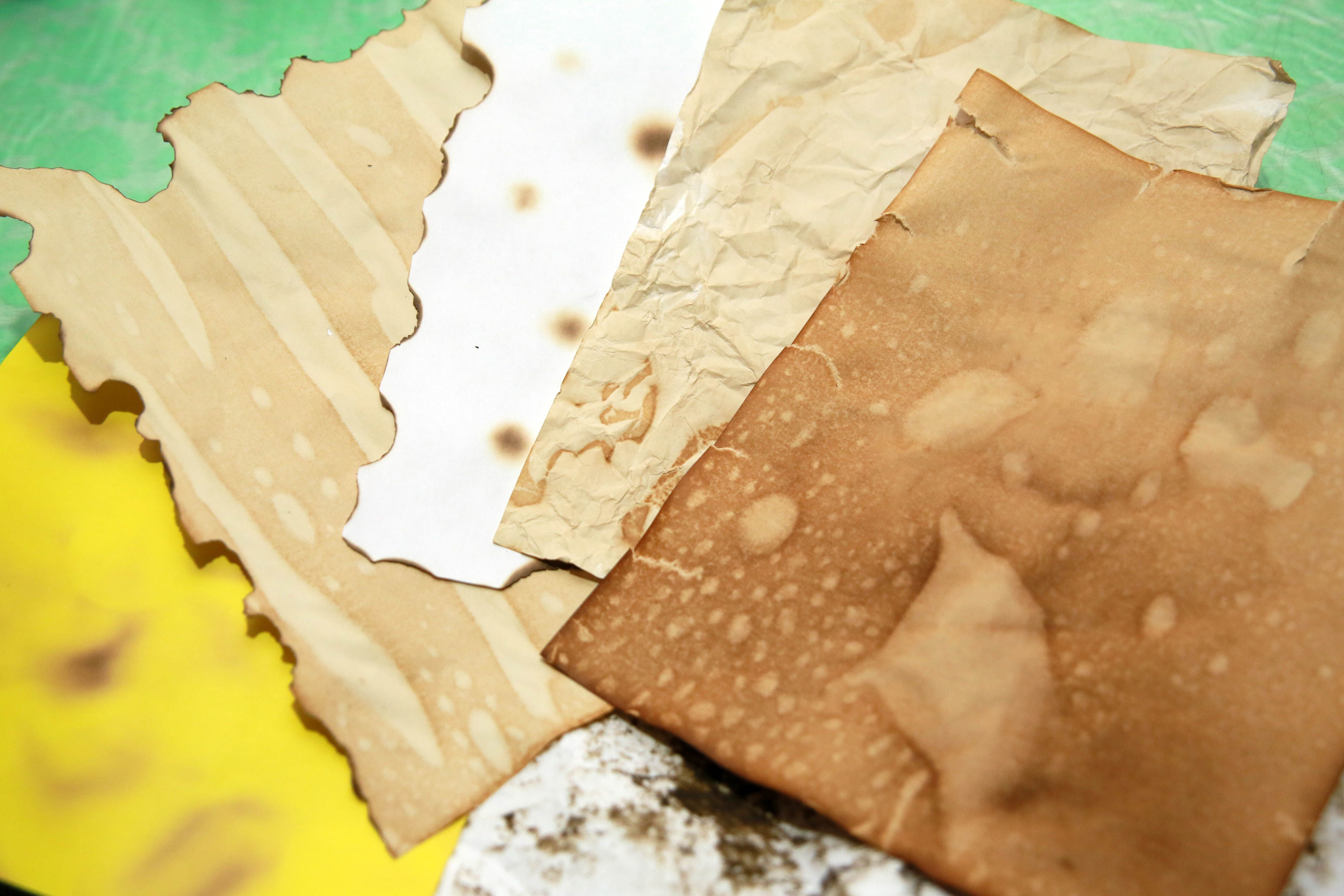 4 Easiest Steps To Make The Paper Appear Old With Images Brown