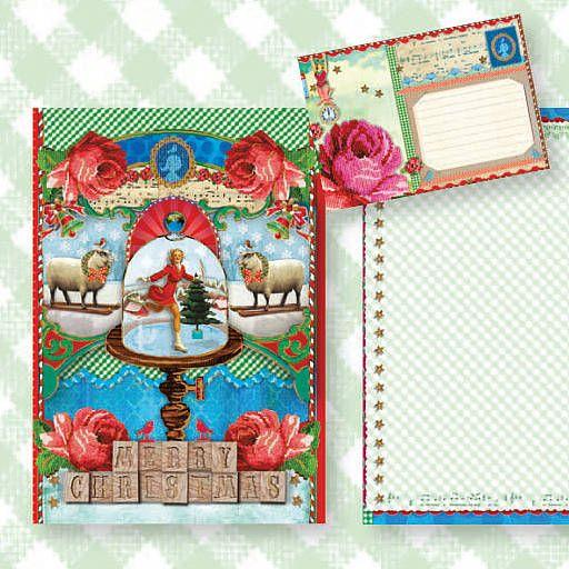 PiP Studio Christmas card snowglobe design Box 1