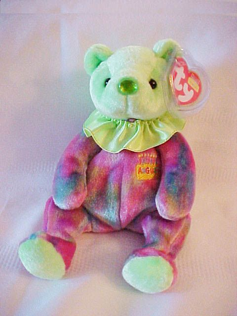 August the Birthday bear AUGUST My nose is the color of my birthstone.  Peridot It brings romance 2f2bee654960