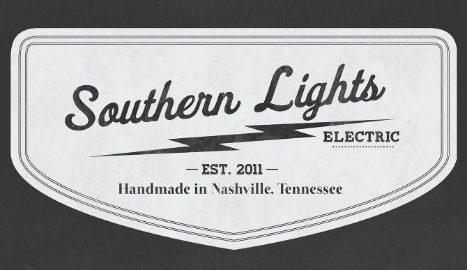 Vintage Southern Lights Electric Logo
