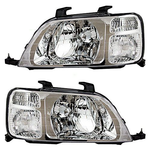 Driver And Passenger Headlights Headlamps Replacement For Https Www Amazon Com Dp B008g3hmu4 Ref Cm Sw R Pi Dp X Wd0qxbck9t9g1 Honda Cr Honda Headlights