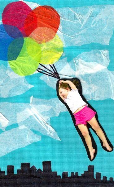 Ihana idea valokuvaa hyödyntävään kollaasi tekniikkaan toteutettavaksi pienten lasten tai miksei aikuistenkin kesken! #askartelu #kuvataide #valokuvaus #kollaasit #lastenkanssa #ideat