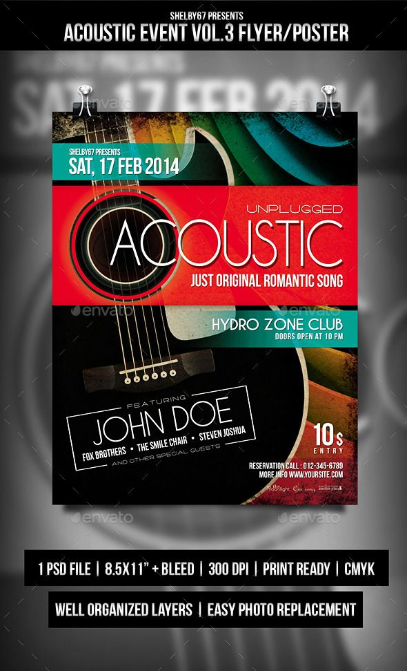 Acoustic Event Flyer  Poster Vol  Event Flyers Flyer Template