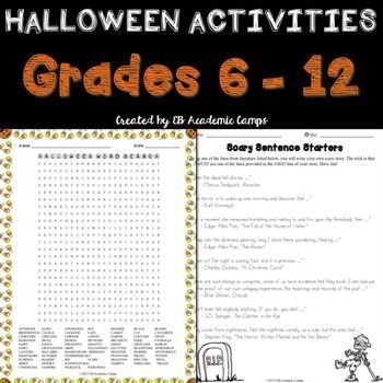 These fun and free Halloween writing activities are the perfect way ...