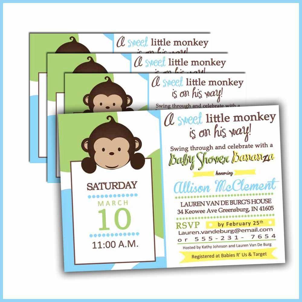 Monkey baby shower invitations for baby boy mod baby shower monkey baby shower invitations for baby boy mod baby shower invites filmwisefo