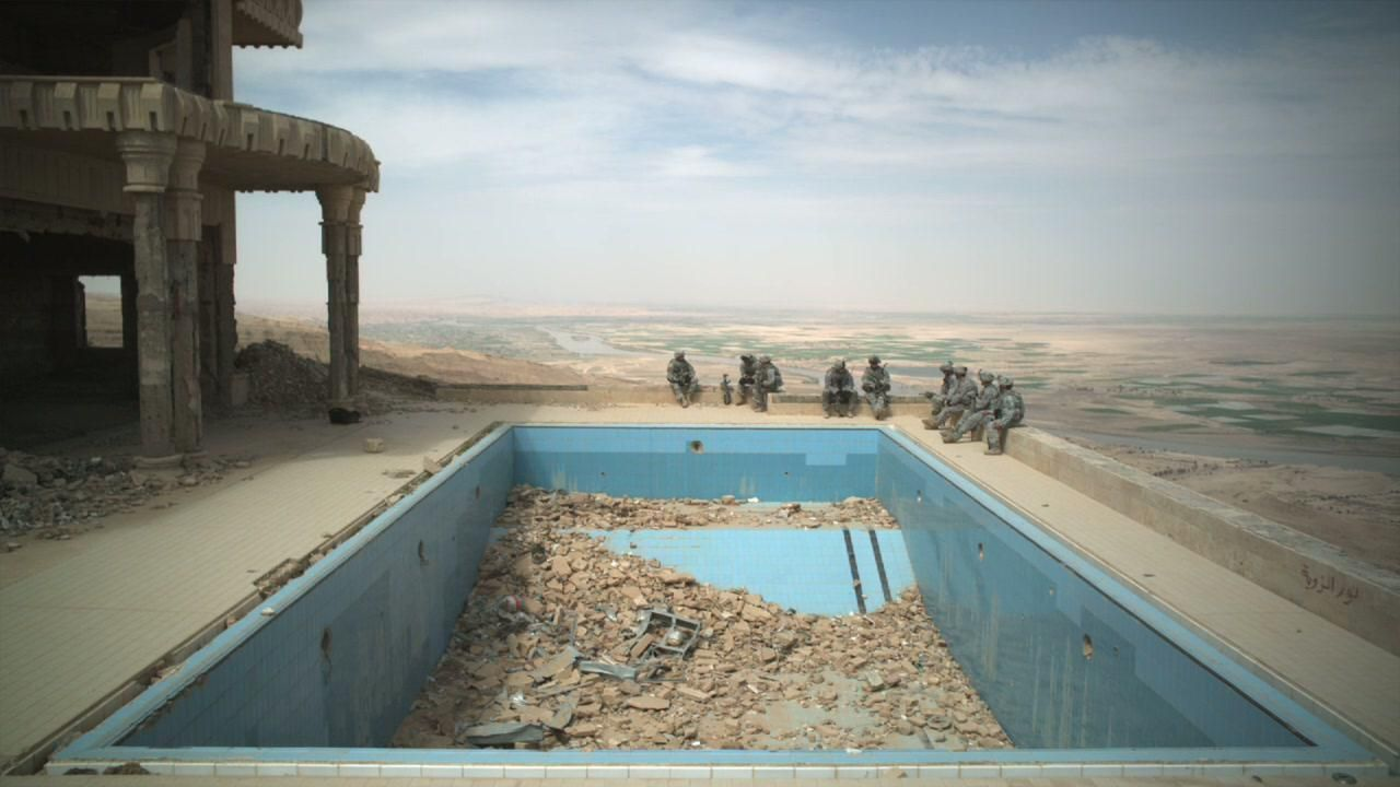 Theatre of War. Shot in Saddam Hussein's hilltop palace in the mountains overlooking the River Tigris, Theatre of War is a slow, virtually s...