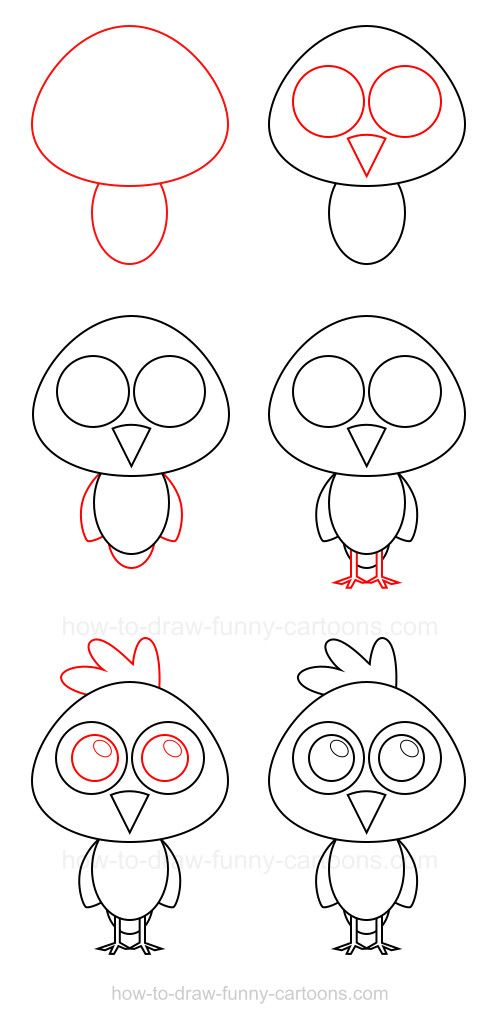 How To Draw A Chicken Adorable Animals Pinterest