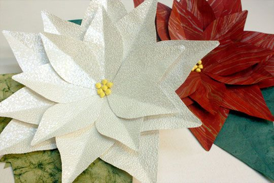 How To Make Large Paper Poinsettia With Templates Christmas