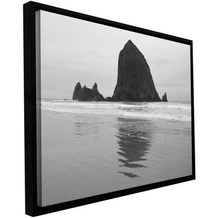 Cody York Goonies Rock Floater-Framed Gallery-Wrapped Canvas, Size: 12 x 18, Black