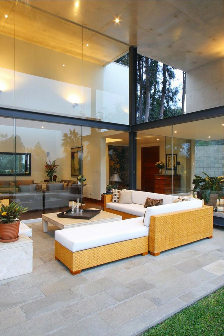 beautiful blended outdoor indoor living