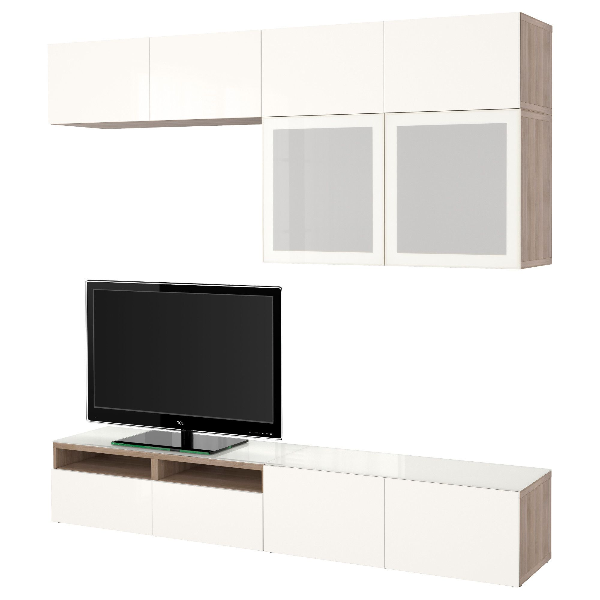 Budget Entertainment Unit Ikea Besta And Lack Shelves Storage  # Ikea Meuble Tv Besta Burs