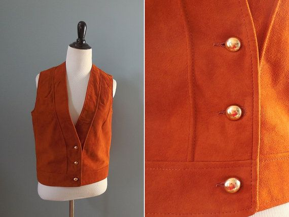 Vintage 70s SUEDE VEST / womens vest / suede by NorthOfMain