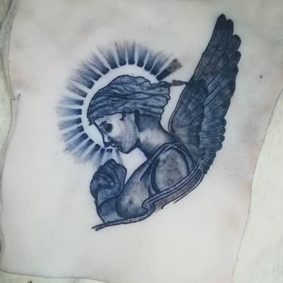 Practicando con las sombras... Angel . . . . . . . . . . . . . . . #tatuajes #tatuaje #angel #ink #inkmachine #dynamic #dynamicblack #dynamicink #tattoo #tattooart #tattooartist #tattooink #tattoodo #draw #drawing #instatattoo #instaink #instaart