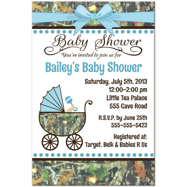 Camo Baby Shower Personalized Invitation Baby Shower Camo Personalized Baby Shower Invitations Camo Baby Shower Invitations