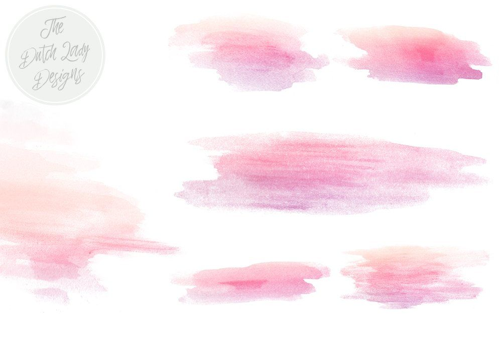 Soft Watercolor Brush Smear Clipart Pastel Watercolor