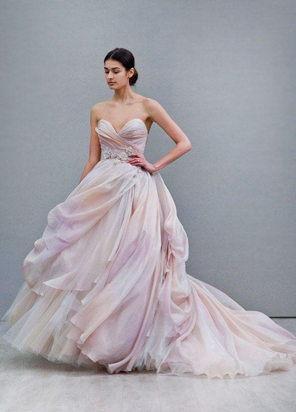 Sherbet colored lazaro dress