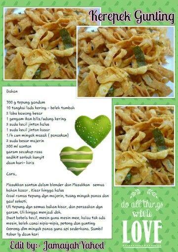 Kerepek Gunting Snacks Dishes Recipes Cooking Recipes