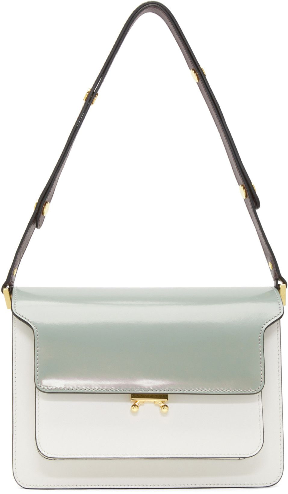 00f2a1d85ed Marni - Green   White Medium Trunk Bag. Find this Pin and more on Handbags  ...
