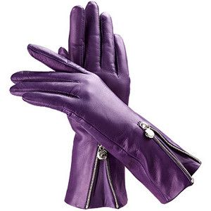 f3a3e360a79ba Aspinal of London Ladies Silk Lined Zipped Leather Gloves