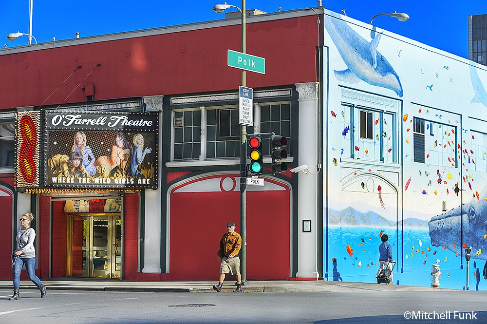 O'Frarrell Theatre Strip Club In The Tenderloin,  San Francisco By Mitchell Funk   www.mitchellfunk.com