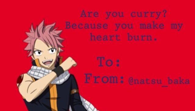 Anime Valentine Card Anime Valentine Cards Fairy Tail